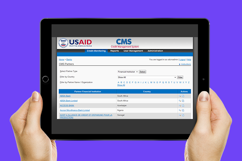 Thumbnail photo of Credit Management System (CMS) project